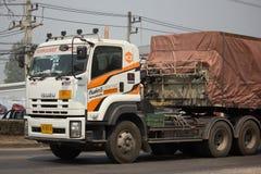 Тележка груза контейнера трейлера Kankawee Транспортировать Компании Стоковое Изображение RF