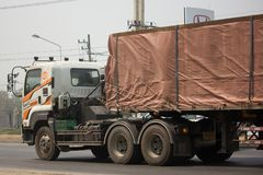 Тележка груза контейнера трейлера Kankawee Транспортировать Компании Стоковые Изображения