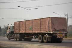 Тележка груза контейнера трейлера Kankawee Транспортировать Компании Стоковые Изображения RF