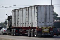 Тележка груза контейнера трейлера Santipab Компании Стоковое фото RF