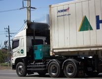 Тележка груза контейнера трейлера Santipab Компании Стоковая Фотография