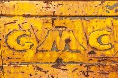 тележка логоса gmc Стоковая Фотография RF