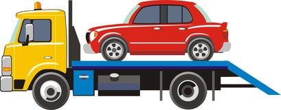 тележка перевозки автомобиля иллюстрация штока