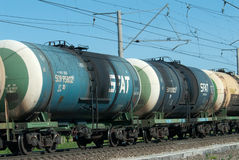 тележка поезда бака сырой нефти Стоковые Фото