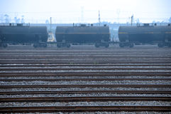тележка поезда масляного бака Стоковое фото RF
