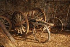 тележка старое деревянное Стоковая Фотография RF