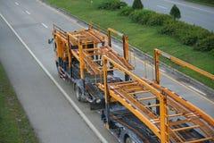 Тележка трейлера, контейнер автомобиля. стоковое изображение rf