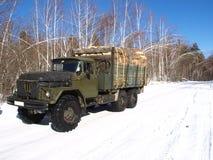 тележка firewoods Стоковые Фото