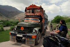 тележка jingle Афганистана стоковое фото rf