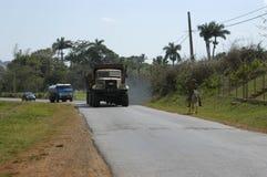 Тележки управляя на дороге стоковая фотография rf