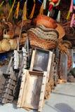 тележки basketry handcrafts мексиканские pinatas деревянные стоковые изображения