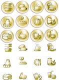 телезритель изображения икон золота падения Стоковая Фотография RF