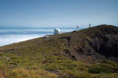 Телескопы на La Palma стоковое изображение