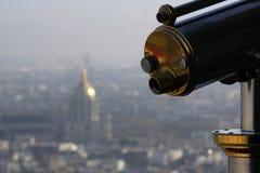 Телескоп в Париж стоковые изображения