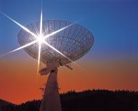телескоп радио обсерватории Стоковая Фотография RF