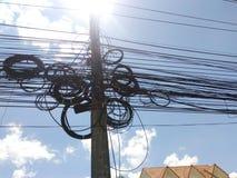 Телефонная линия Стоковые Фото