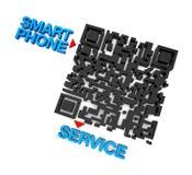 Телефонное обслуживание QRcode франтовское Стоковые Фотографии RF