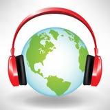 телефоны глобуса головные бесплатная иллюстрация