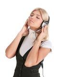 телефоны девушки уха Стоковые Изображения