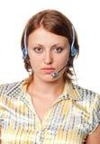 телефоны девушки уха Стоковая Фотография