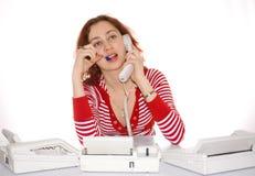 телефоны девушки Стоковое Фото