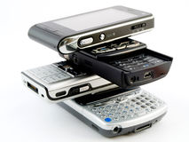 телефоны pda клетки handheld передвижные самомоднейшие стоковые фото