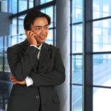 телефон бизнесмена беседуя Стоковые Изображения RF