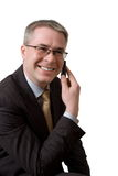 телефон бизнесмена говорит Стоковое Изображение RF