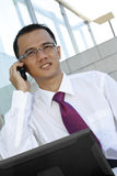 телефон бизнесмена Стоковые Изображения RF