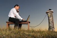 телефон бизнесмена 4 Стоковые Фото