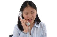 телефон девушки стоковые изображения rf