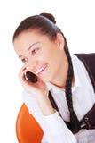 телефон звонока коммерсантки женский делая Стоковое Изображение