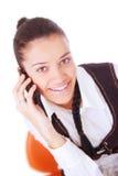 телефон звонока коммерсантки женский делая Стоковое Изображение RF