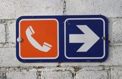 телефон знака стоковые фото