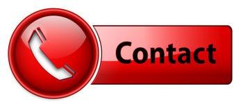 телефон иконы контакта кнопки Стоковое Изображение