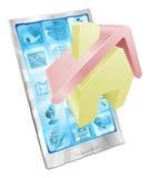 телефон иконы дома принципиальной схемы app Стоковое Фото