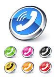 телефон иконы Стоковая Фотография