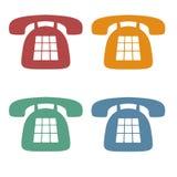телефон икон ретро Стоковые Изображения