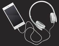 Телефон и музыка иллюстрация штока