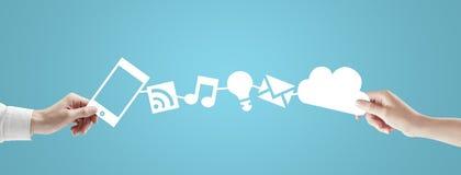 Телефон и облако Стоковая Фотография RF