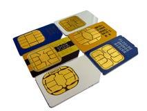 телефон карточки Стоковое Изображение