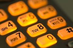 телефон кнопок накаляя Стоковое Изображение