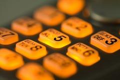 телефон кнопок накаляя Стоковая Фотография RF
