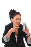 телефон коммерсантки Стоковое Изображение