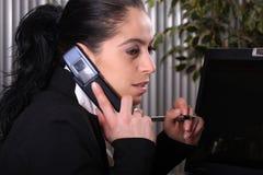 телефон коммерсанток Стоковые Изображения RF