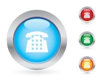 телефон комплекта кнопки лоснистый Стоковая Фотография