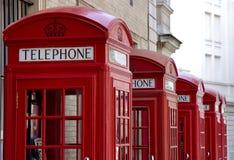 телефон красного цвета будочек Стоковое Изображение