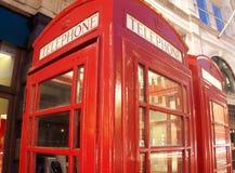 телефон красного цвета будочки Стоковое Изображение RF