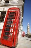 телефон красного цвета будочки ben большой Стоковое фото RF