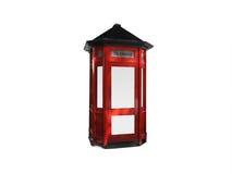 телефон красного цвета коробки стоковые изображения rf